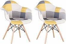 EGOONM Lot de 2 chaises, Fauteuil Patchwork,