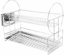 Égouttoir à vaisselle, double couche en acier