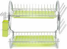 égouttoir à vaisselle vert 2 niveaux