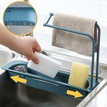 Égouttoir extensible pour évier, étagère