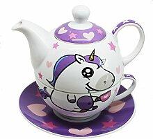 EinhornLiebe® Théière avec tasse en porcelaine
