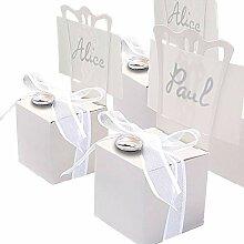 EinsSein 48x Boîte Cadeau Tabouret Blanc boites
