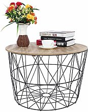 Ejoyous Table D'appoint Ronde, Table Gigogne