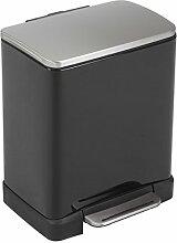 EKO E-Cube Poubelle à Pédale Métal Noir 26 x 29