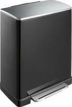 EKO E-Cube Poubelle à Pédale Métal Noir 34,5 x