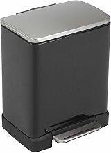EKO Recycle E-Cube Poubelle à Pédale Métal Noir