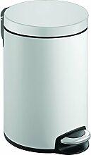 EKO Serene Poubelle à Pédale Métal Blanc 38 x
