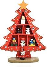 ELAULA Sapin de Noël artificiel en bois pour