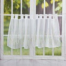 Elbersdrucke Rideau Brise-bise Blanc et Vert 48 x