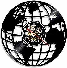 Eld 3D Terre Horloge Murale Globe Carte décor à