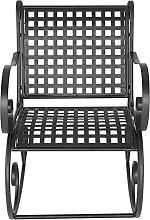 Élégante chaise à bascule en fer pour jardin,