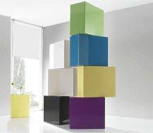 Élément mural cube 1 porte COULEURS LILAS