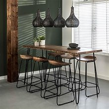 Elin Table De Bar Industrielle 180 cm