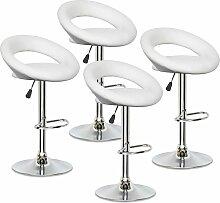 ELITE - Lot de 4 tabourets design blancs