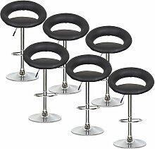 ELITE - Lot de 6 tabourets design noirs