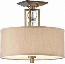 Elstead - Plafonnier Celestial, bronze et cristal