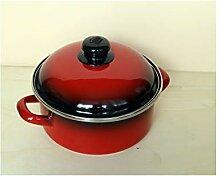 EMA-LION Marmite émaillée Rouge/noir (20 cm -