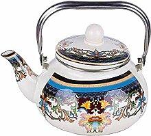 Émail Teapot Bouilloire sur le poêle Parée