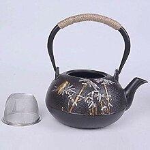 Émail Teapot Théière en fonte avec infuseur en