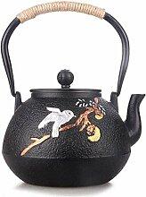 Émail Teapot Théière en fonte NonCoating main