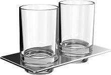 Emco Art porte-verre double avec verres chrome
