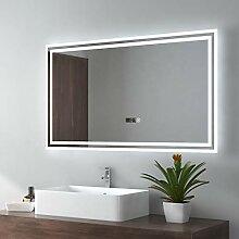 EMKE LED Miroir de Salle de Bain 100x60cm Miroir