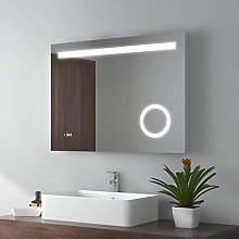 EMKE LED Miroir de Salle de Bain 80x60cm Miroir de