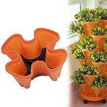 Empilables Fleur Tour Multicouche Fraisier Pot