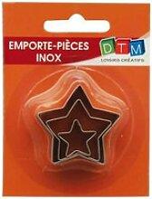 Emporte-pièces métal - Étoile - 3 pièces - DTM