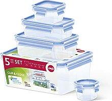 Emsa 512753 Alimentaires Clip & Close, Plastique,