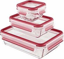 Emsa 514169 lot de 3 boîtes alimentaires en verre
