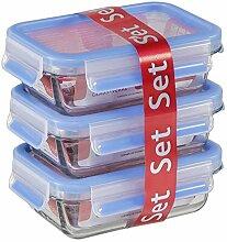 Emsa 514170 Lot de 3 boîtes alimentaires en verre