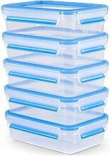 Emsa Clip&Close Lot de 5 boîtes rectangulaires de