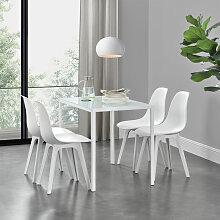 [en.casa] - Ensemble de Table et 4 Chaises Table