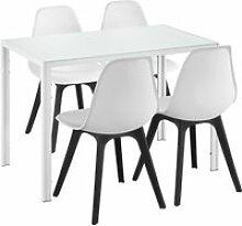 [en.casa] ensemble table et 4 chaises table de