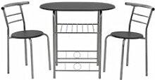 [en.casa]® Set de salle à manger table avec 2