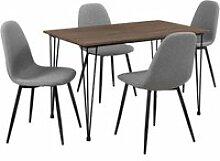 [en.casa]® table à manger aspect du bois +
