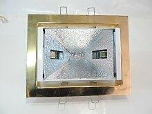 Encastré rectangle doré orientable 208X164mm