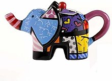 Enesco 331825 MINI THEIERE ELEPHANT, Multicolore