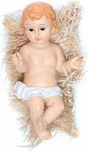 Enfant Jésus santon polyrésine peinte 31 cm