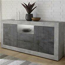 Enfilade 180 cm couleur gris béton moderne SERENA