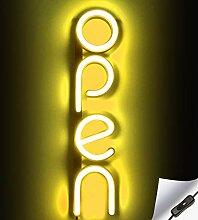 Enseigne ouverte au néon à LED verticale pour