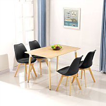 Ensemble à manger 1 table en bois et 4 chaises