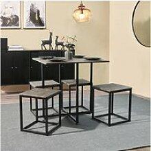 Ensemble à manger 1 table et 4 chaises scandinave
