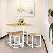 Ensemble à manger 1 table et 4 chaises style