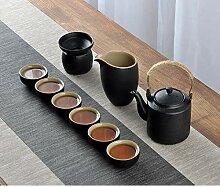 Ensemble à thé en céramique noire chinoise