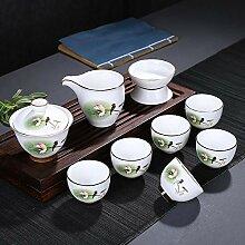 Ensemble à thé en porcelaine blanche chinoise