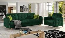 Ensemble canapé lit et fauteuil scandinave - Alba