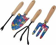 Ensemble d'outils de jardin 4 pièces en acier