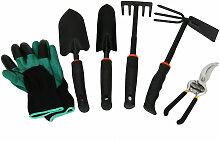 Ensemble d'outils de jardinage de six pieces